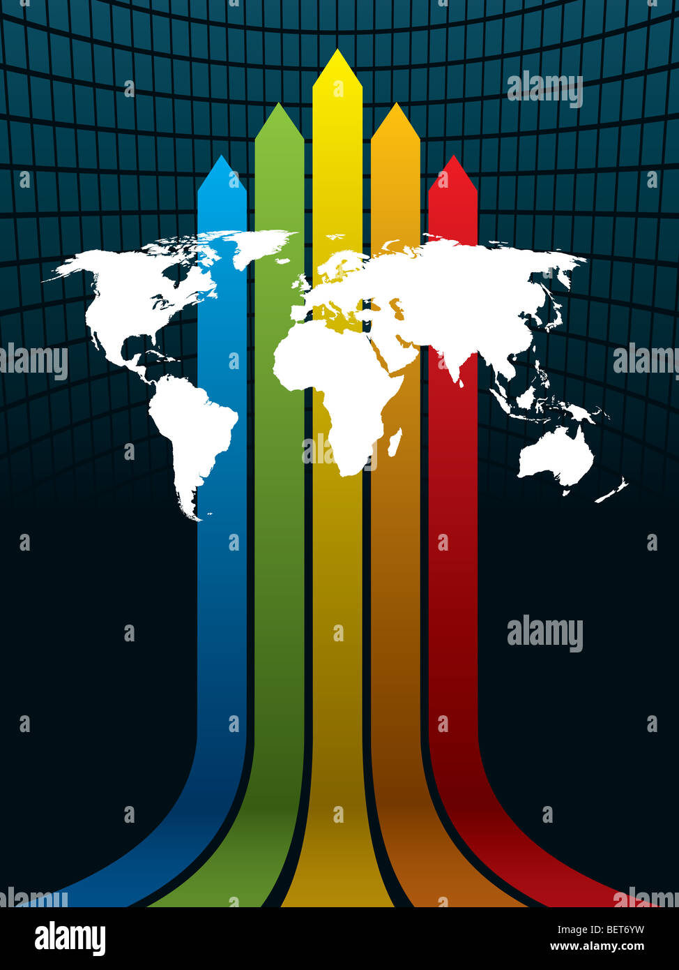 White world map on a rainbow background the base map is from white world map on a rainbow background the base map is from central intelligence agency web site gumiabroncs Gallery