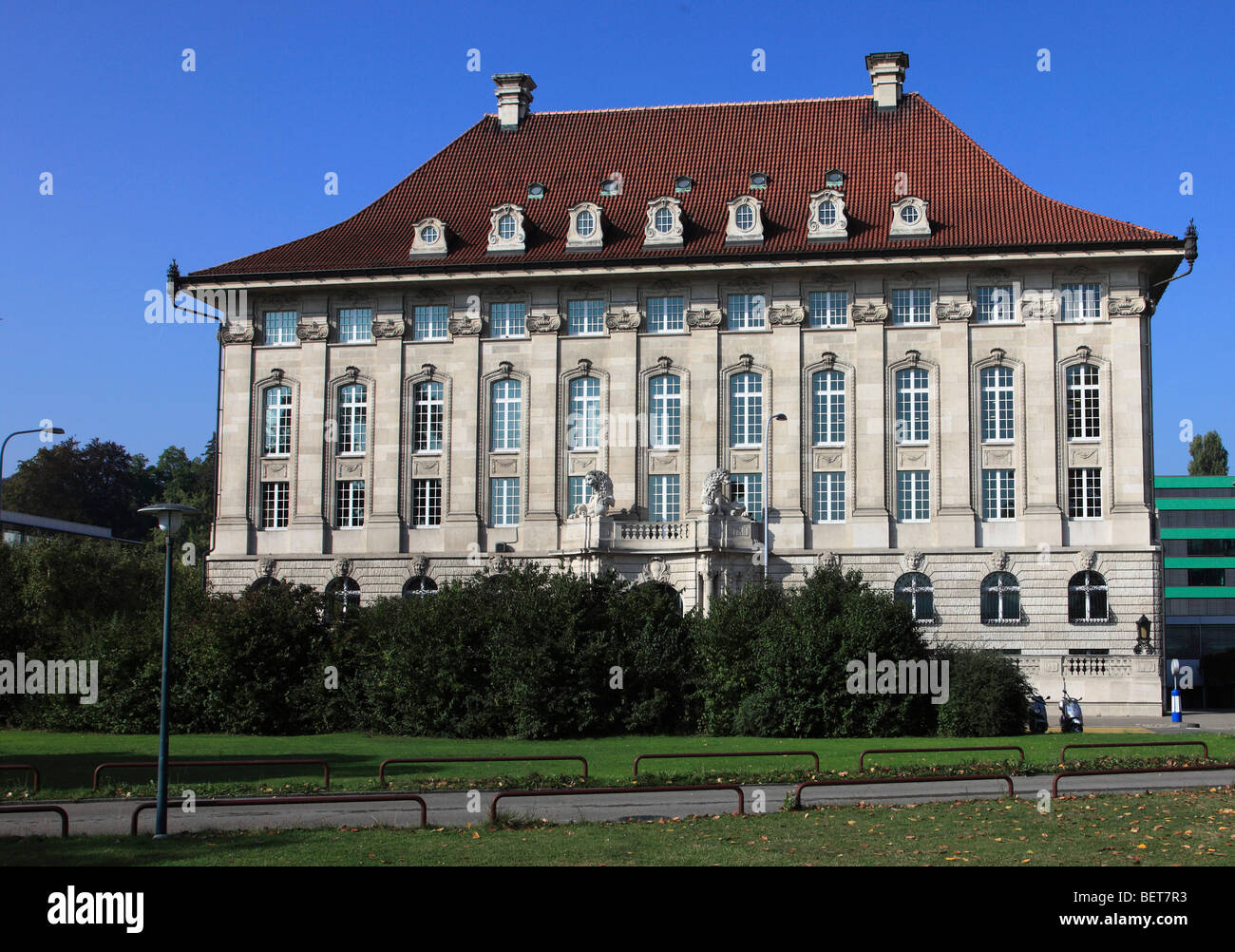 Switzerland, Zurich, Swiss Re Insurance Building - Stock Image