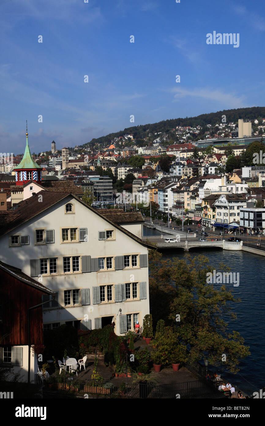 Switzerland, Zurich, general view, Limmat River - Stock Image