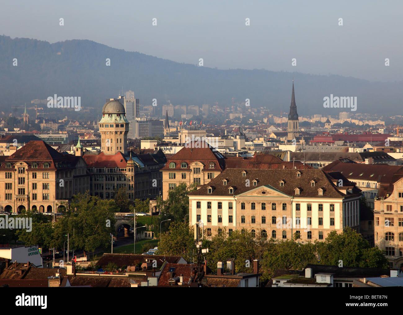 Switzerland, Zurich, skyline, general panoramic view - Stock Image