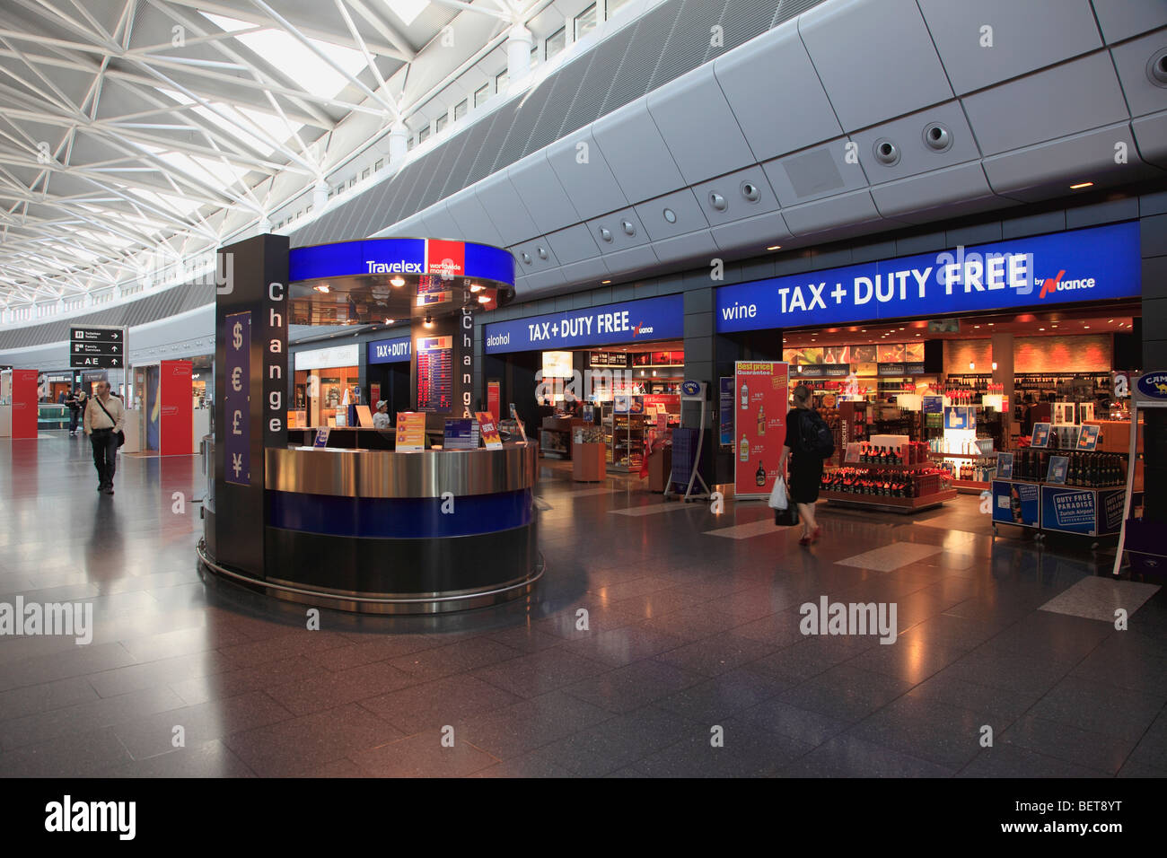Switzerland, Zurich, airport, duty free shopping area - Stock Image