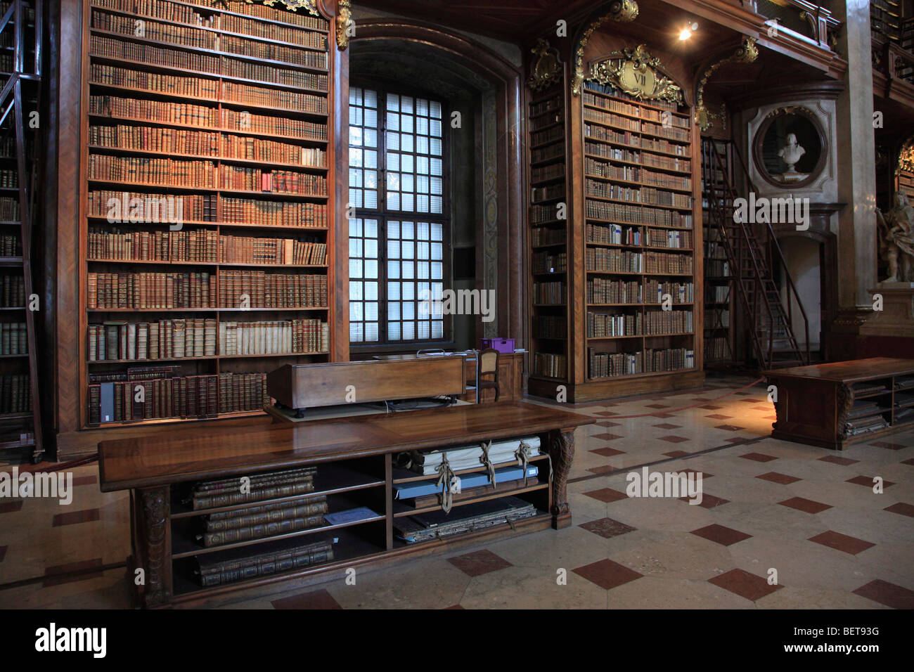 Austria, Vienna, National Library, Prunksaal, ceremonial hall - Stock Image