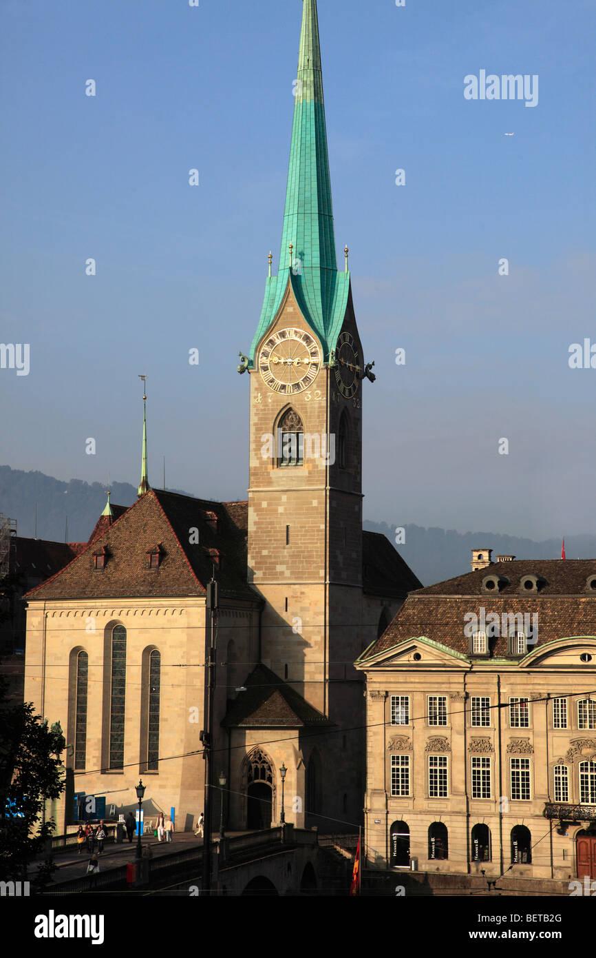 Switzerland, Zurich, Fraumunster Church - Stock Image