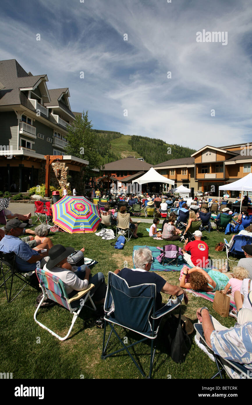 Blue Grass Festival at Schweitzer Mountain Ski Resort, Sandpoint, Idaho, June 18, 2009. - Stock Image