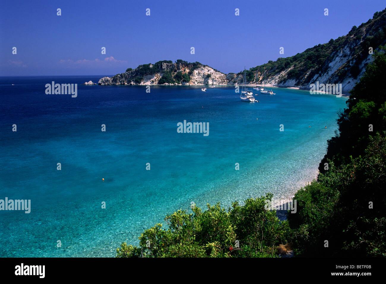 greece, ionian islands, ithaca, gidaki beach - Stock Image