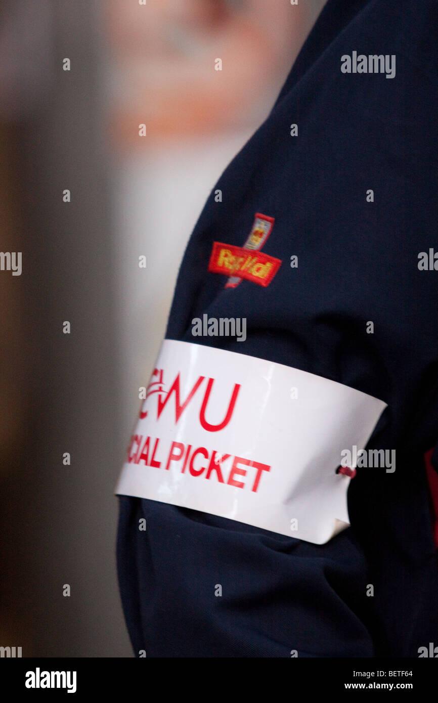 CWU Picket - Postal Strike 2009 - Stock Image