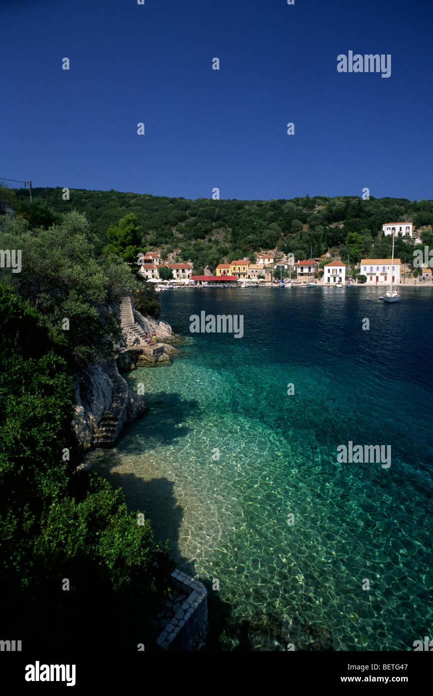 greece, ionian islands, ithaca, kioni - Stock Image