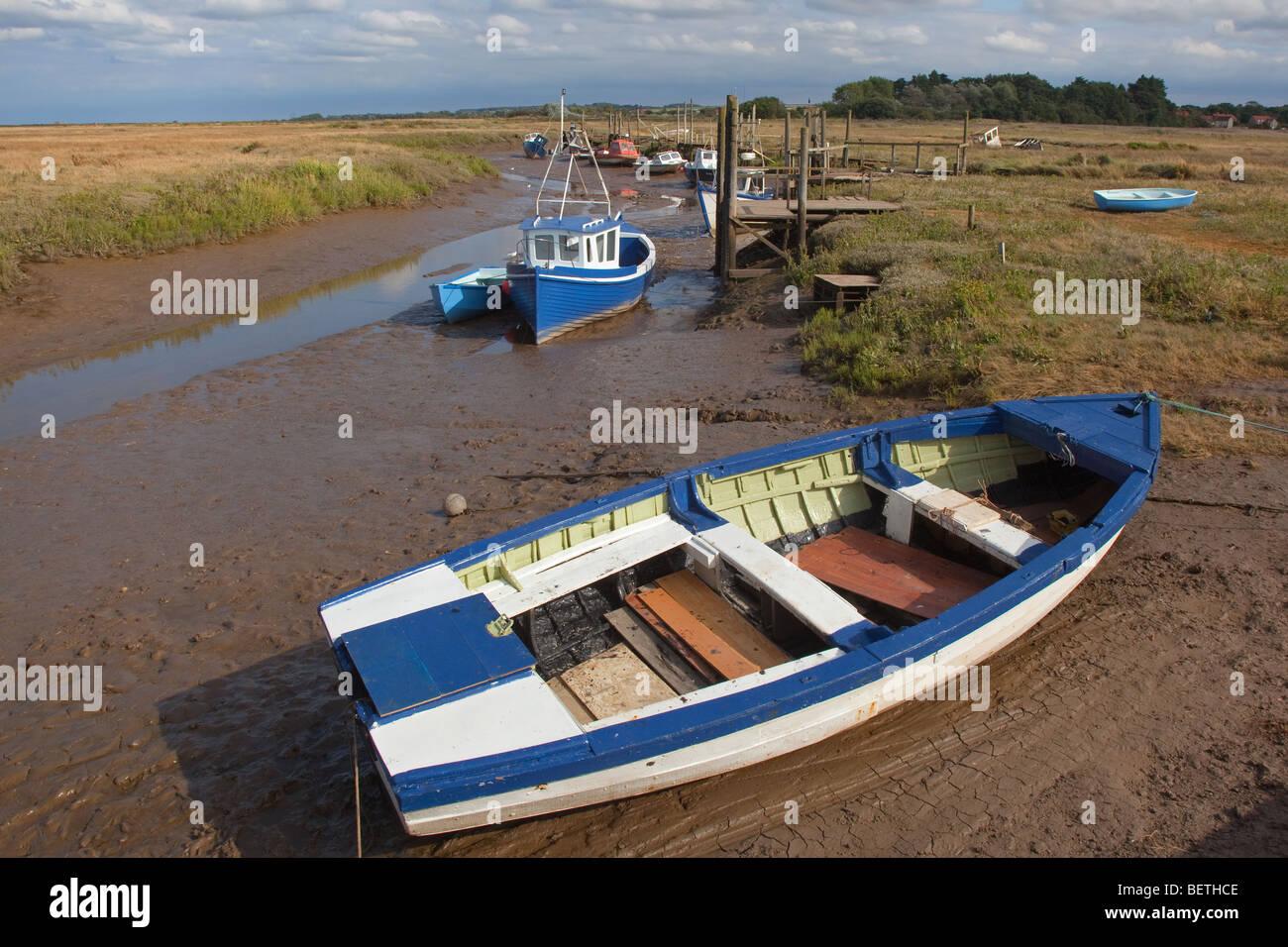 The pretty coastal village of Thornham Staithe near Hunstanton in Norfolk Stock Photo