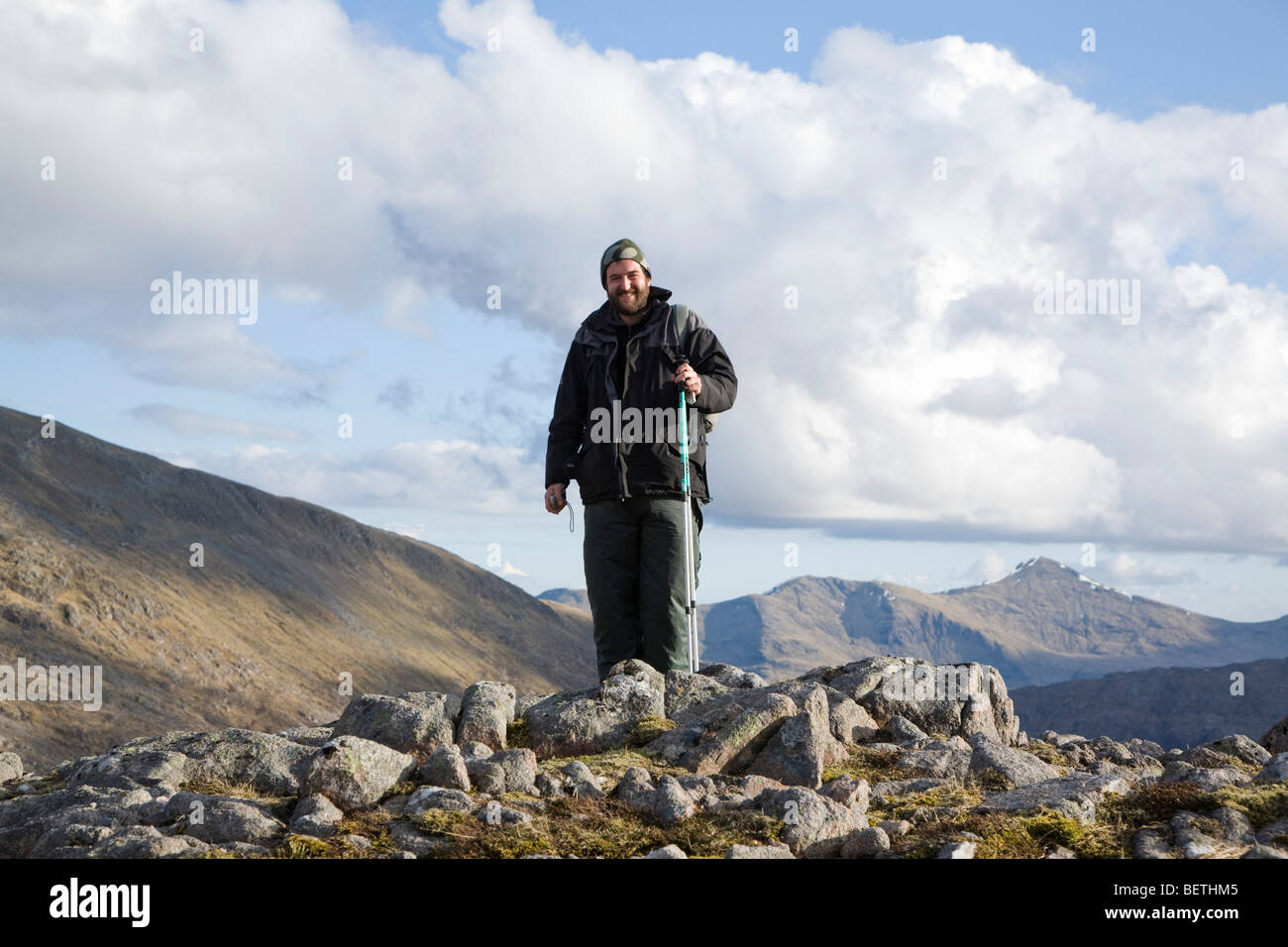 On top of the mountain - Stock Image