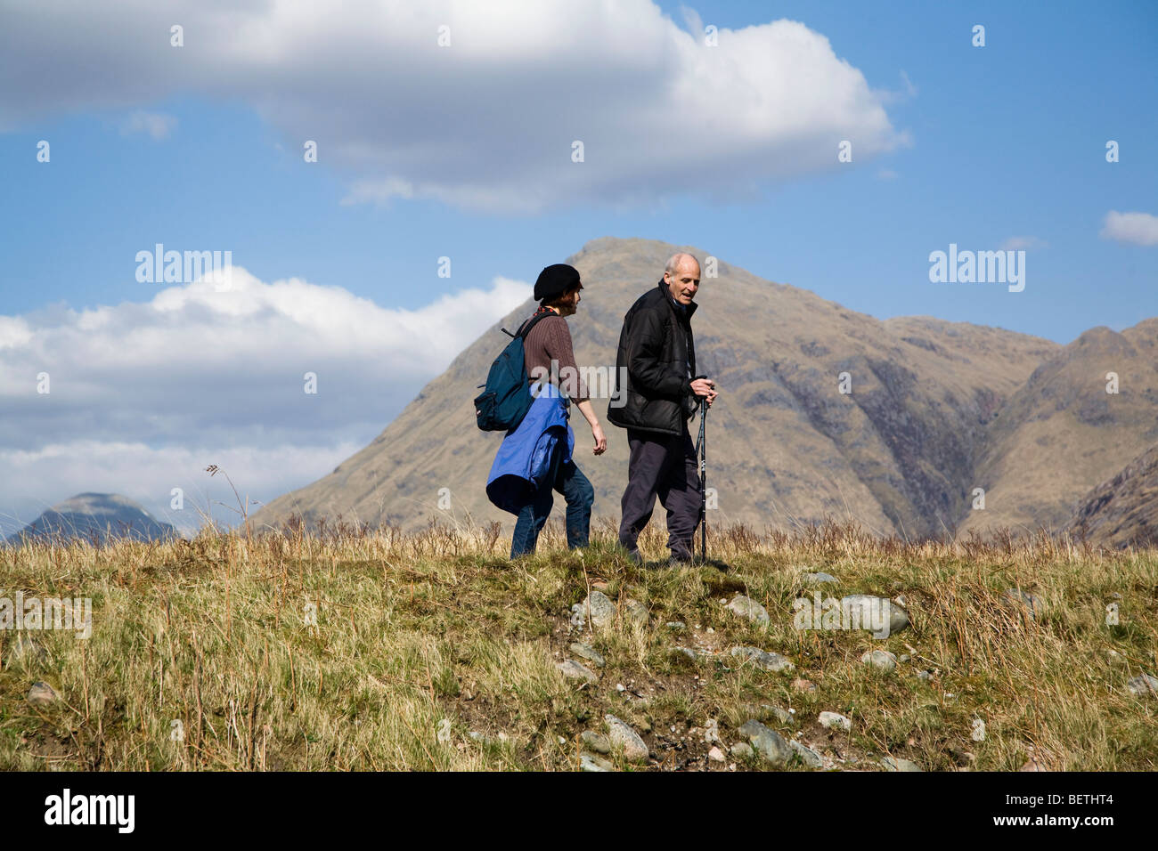 Gentle walk - Stock Image