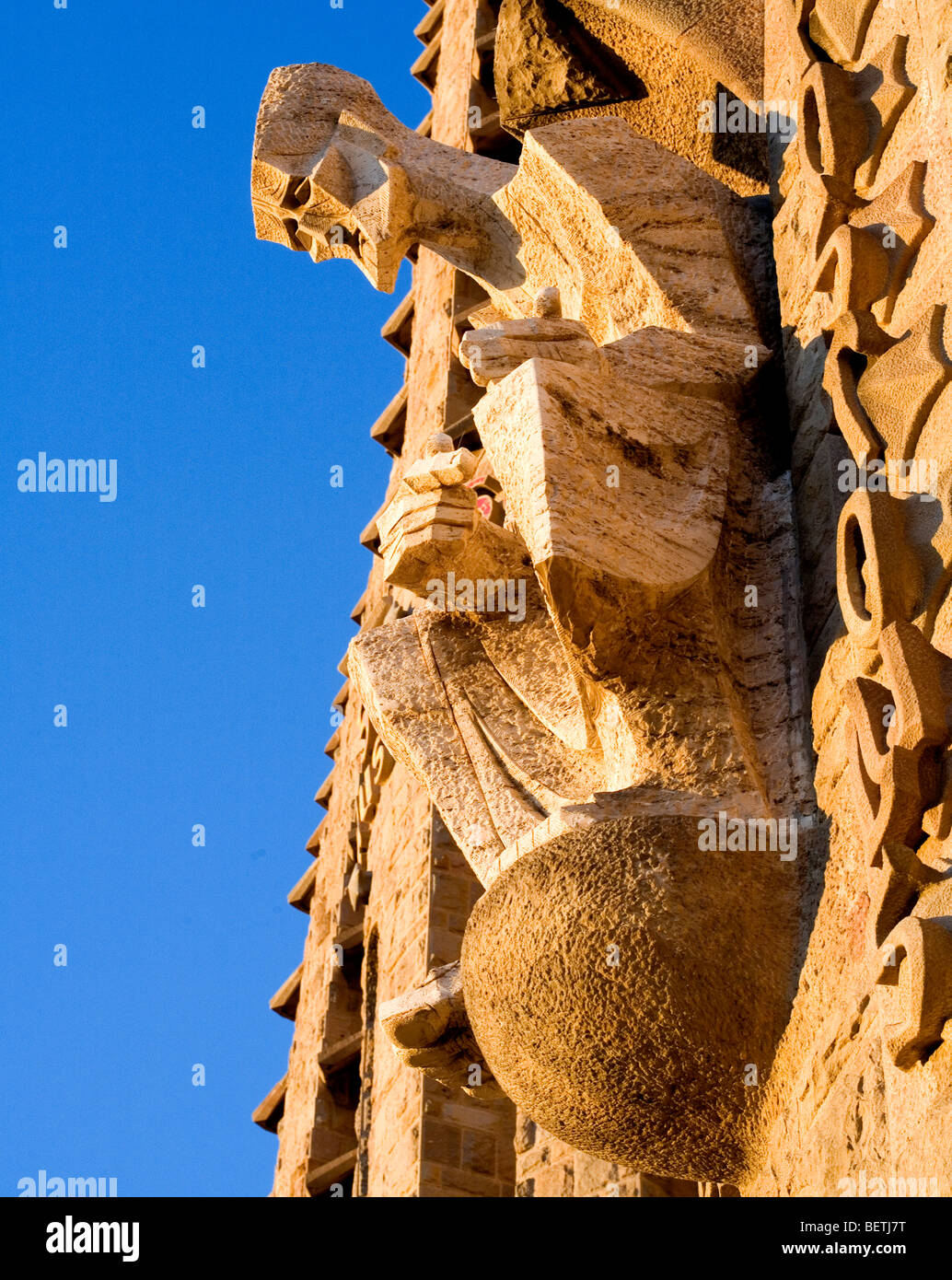 Detail of the Passion facade. - Stock Image