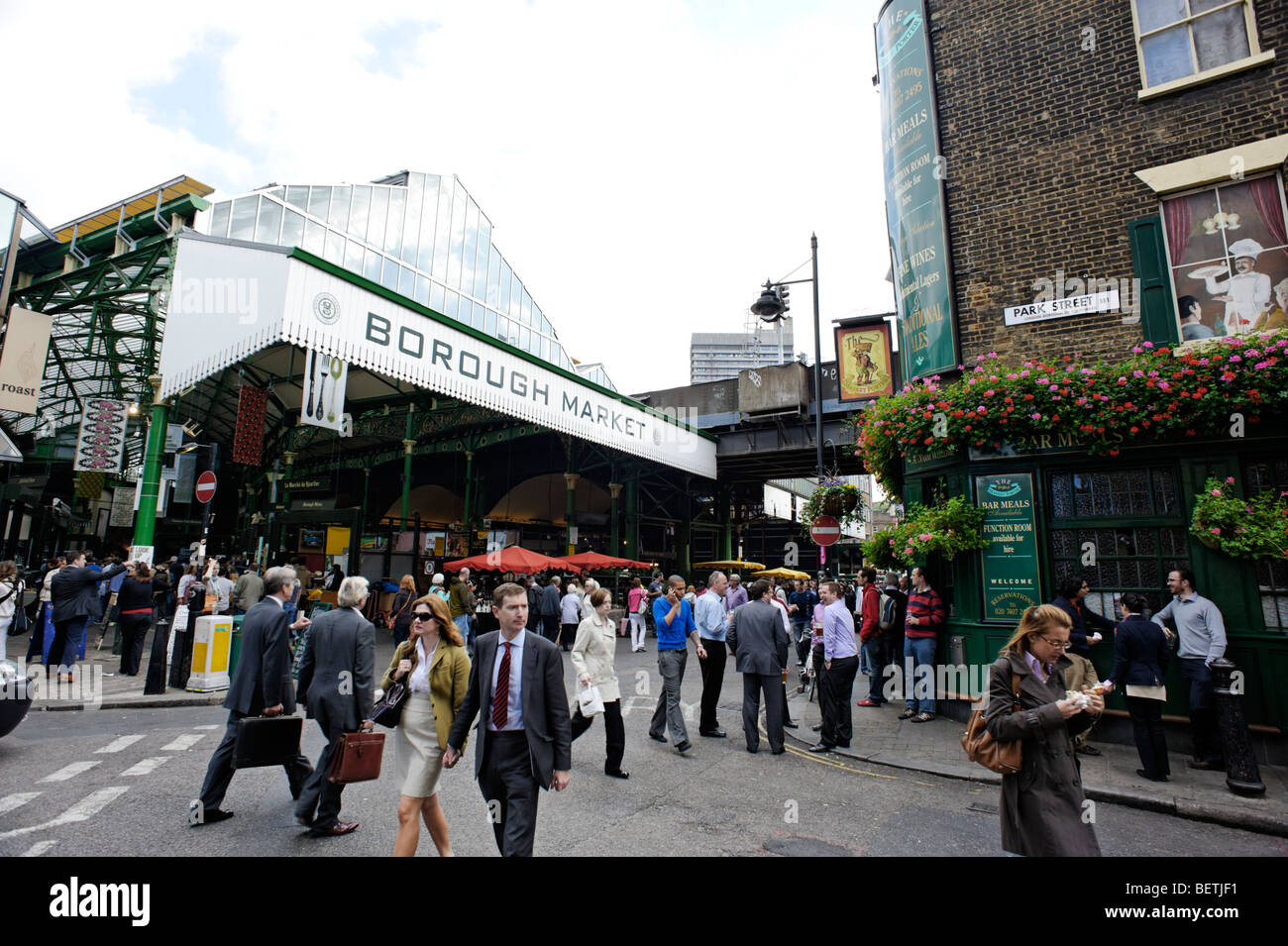 Borough Market. London. Britain. UK - Stock Image