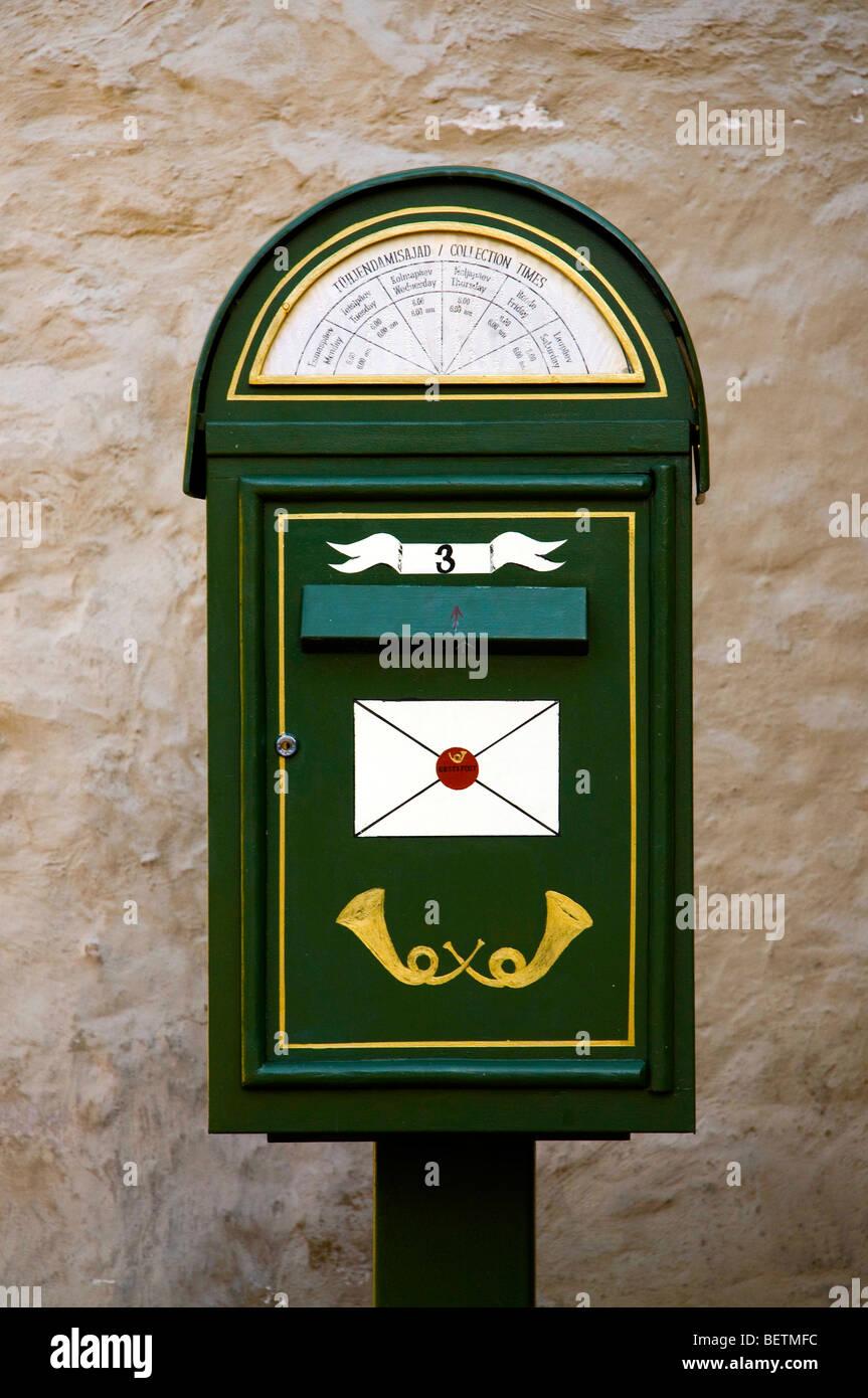 Old Estonian mailbox, Tallinn, Estonia - Stock Image