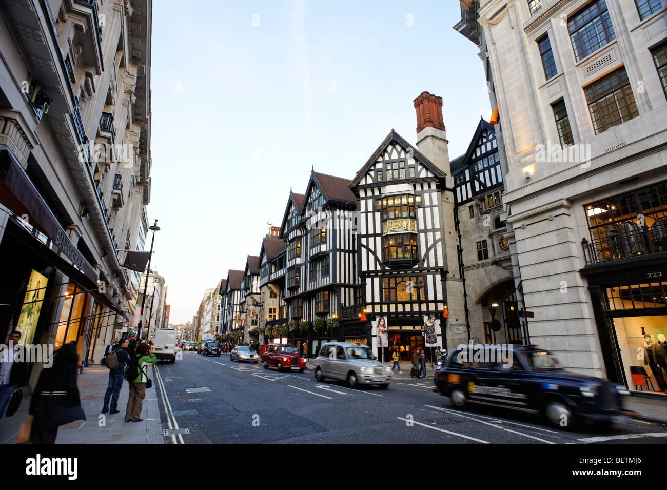 Liberty department store. London. Britain. UK - Stock Image