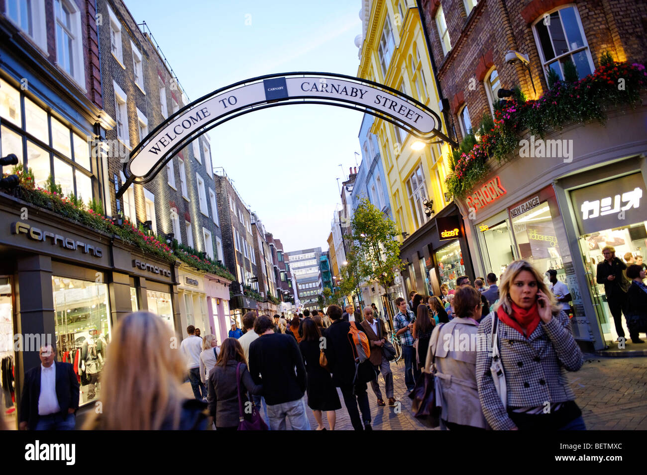 Carnaby street. London. Britain. UK - Stock Image