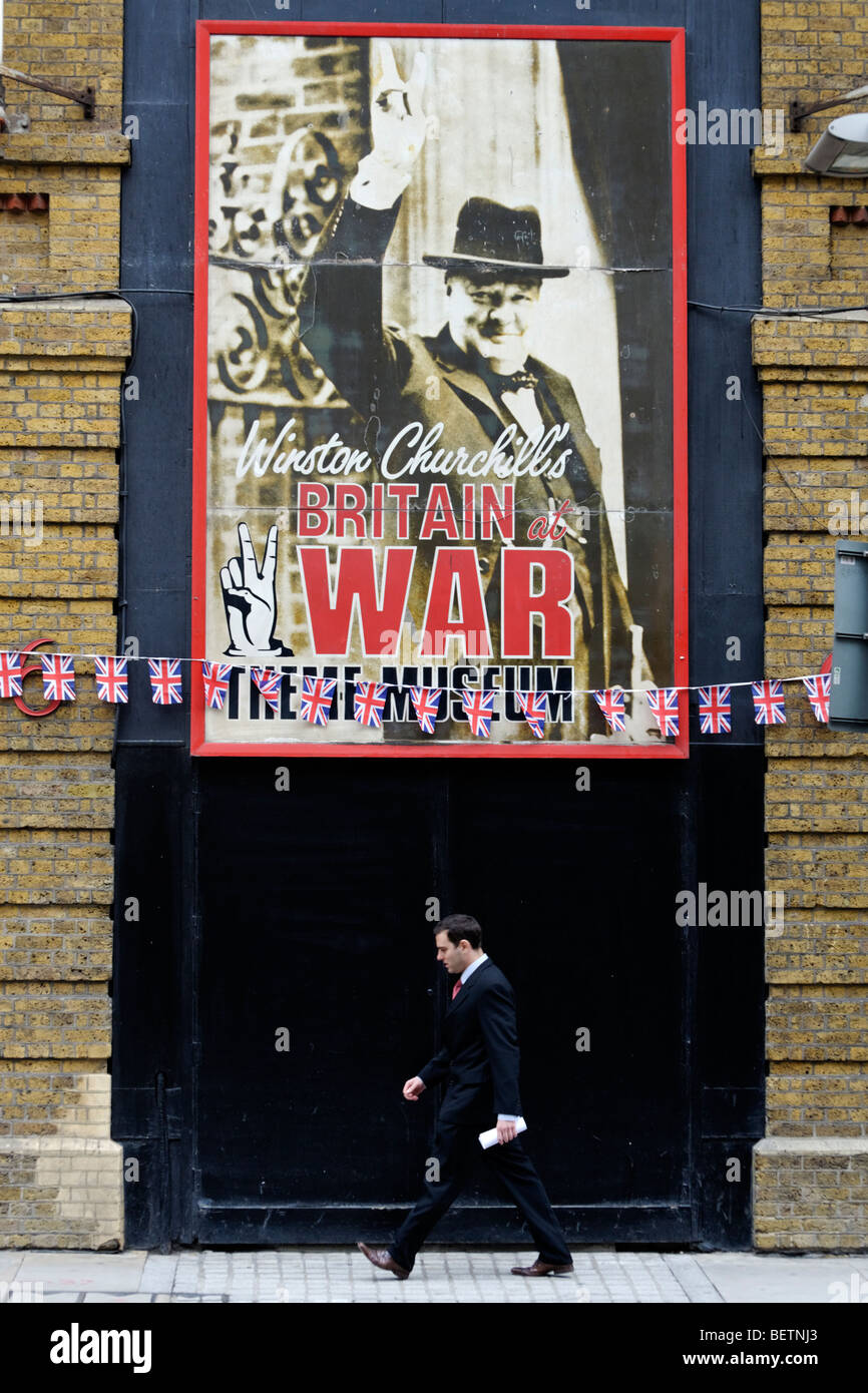Winston Churchil's Britain at War Experience in Tooley Street. London. Britain. UK - Stock Image