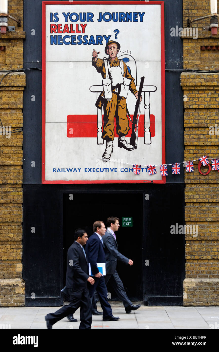 Britain at War Experience sign in Tooley Street. London. Britain. UK - Stock Image