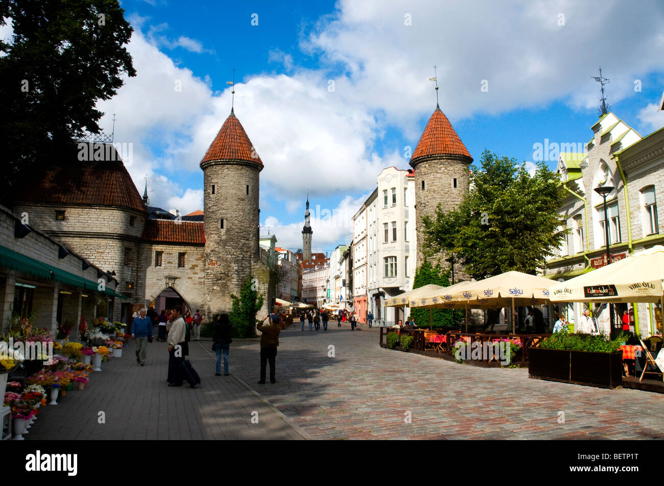 Viru Gate, Tallinn, Estonia - Stock Image