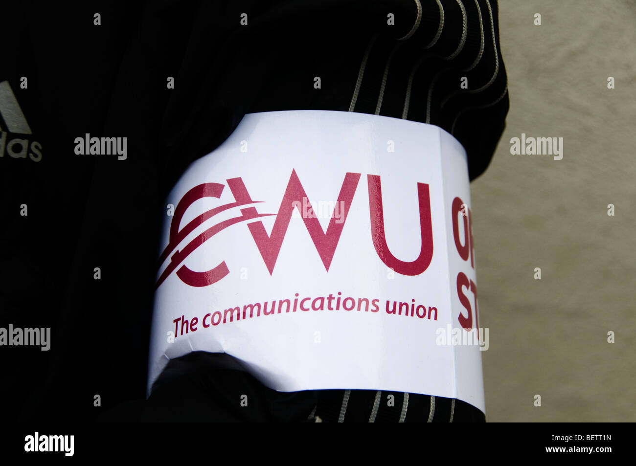 London October 22nd 2009 Post office workers, members of the Communications Union (CWU) strike at Mount Pleasant - Stock Image
