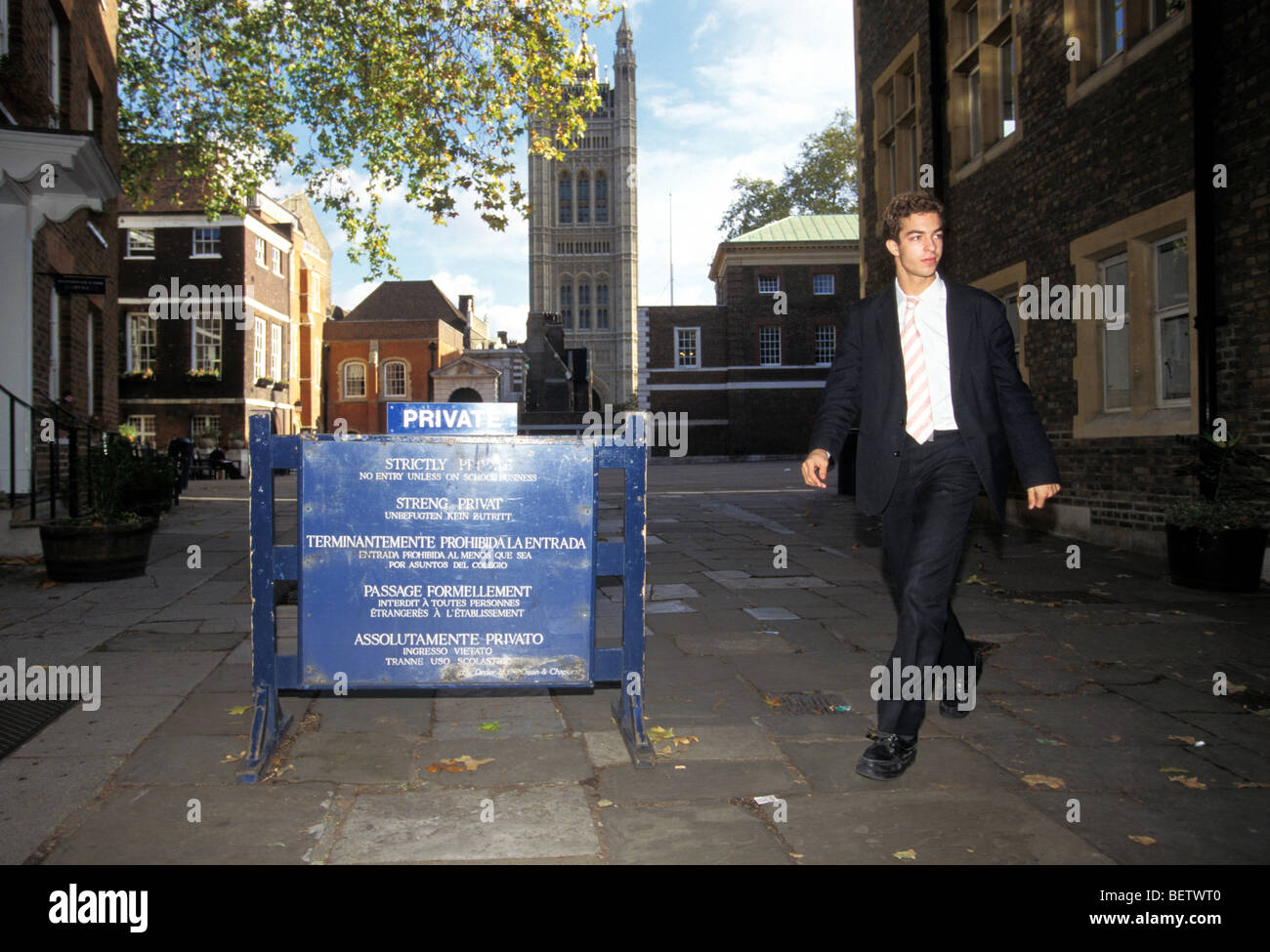 Westminster private school, London UK - Stock Image