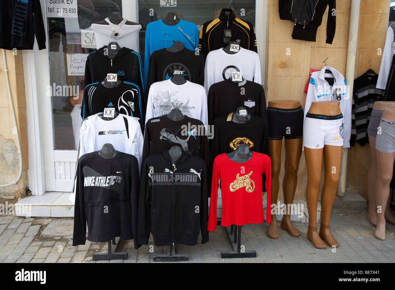 Cheap Designer Goods On Sale In A Shop In The Trnc Turkish Republic