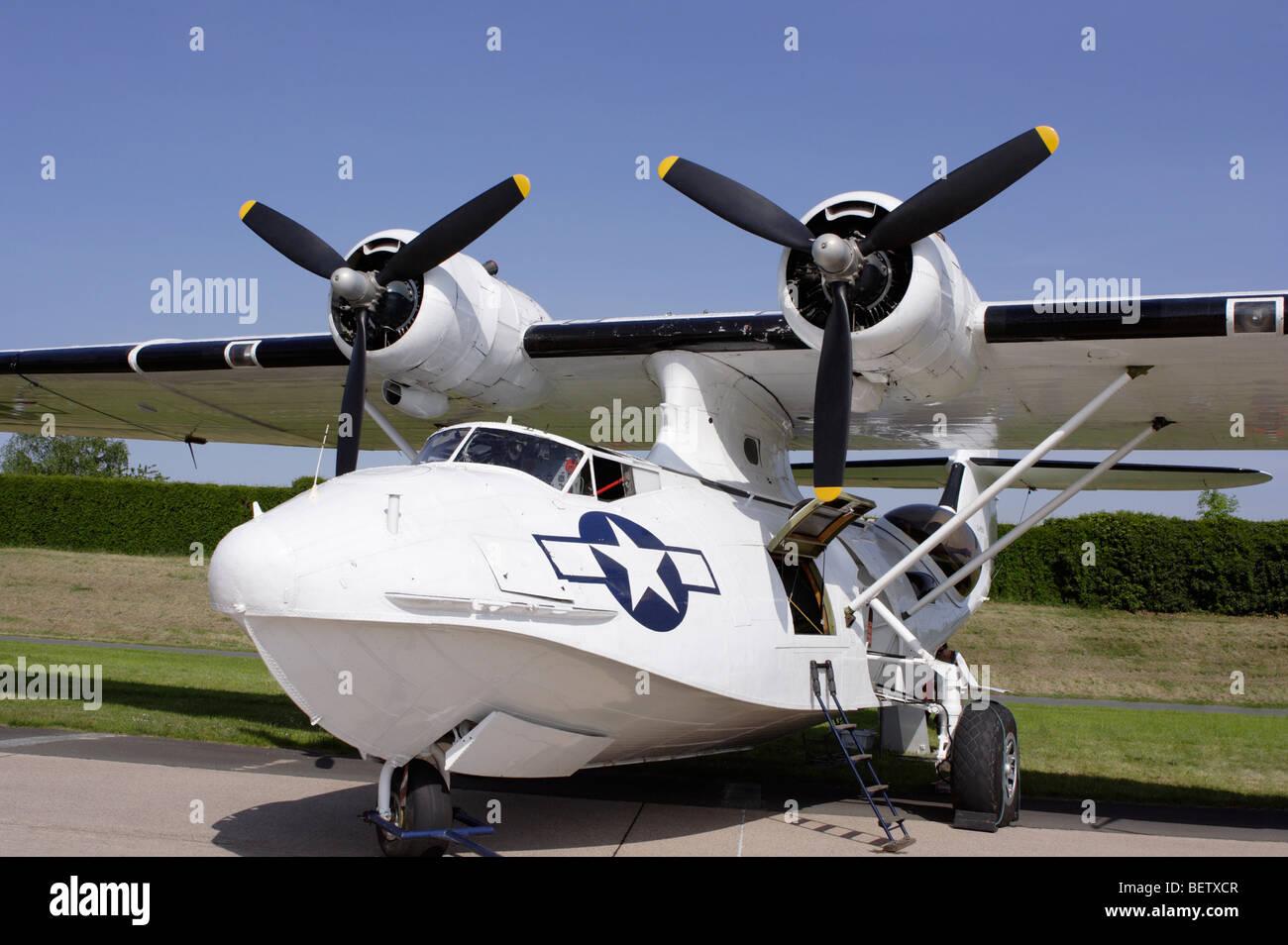 PBY Catalina airplane airship aircraft plane - Stock Image