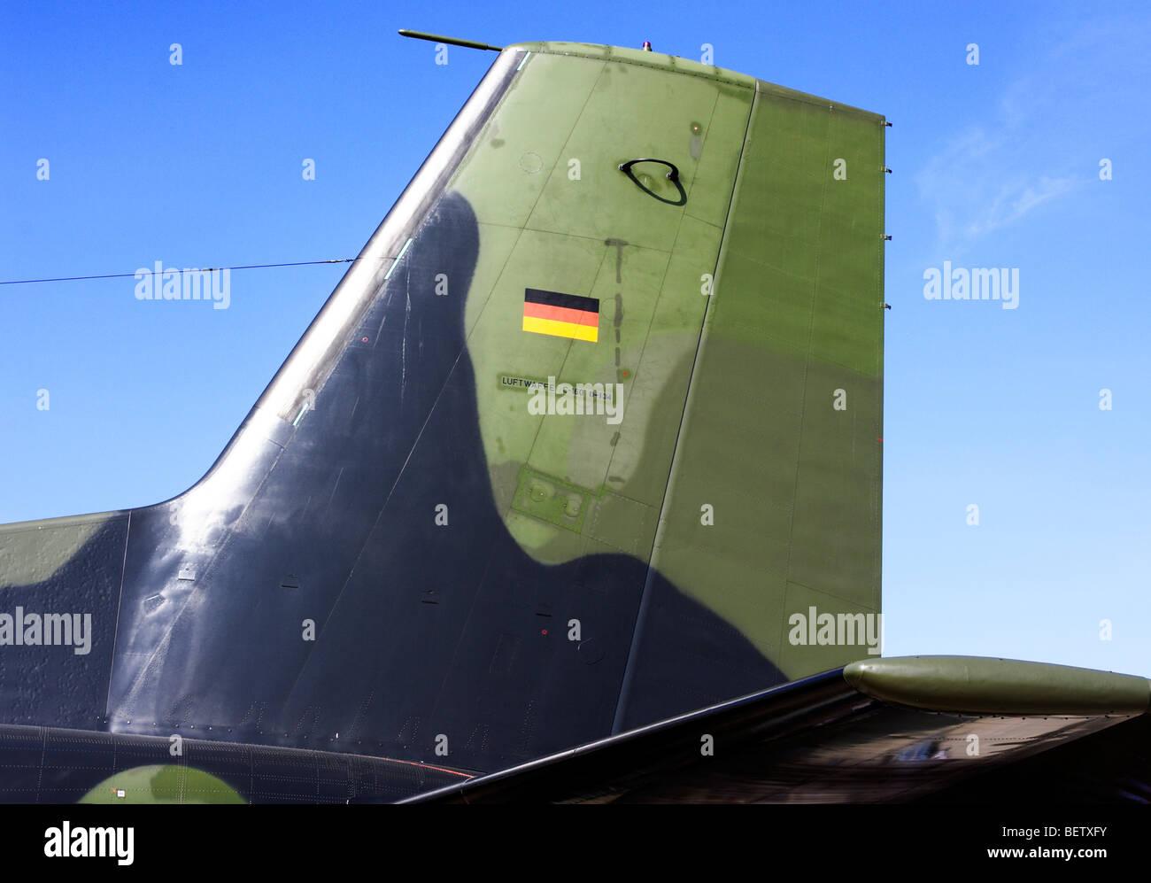 Rudder of Transall C-160 - Stock Image