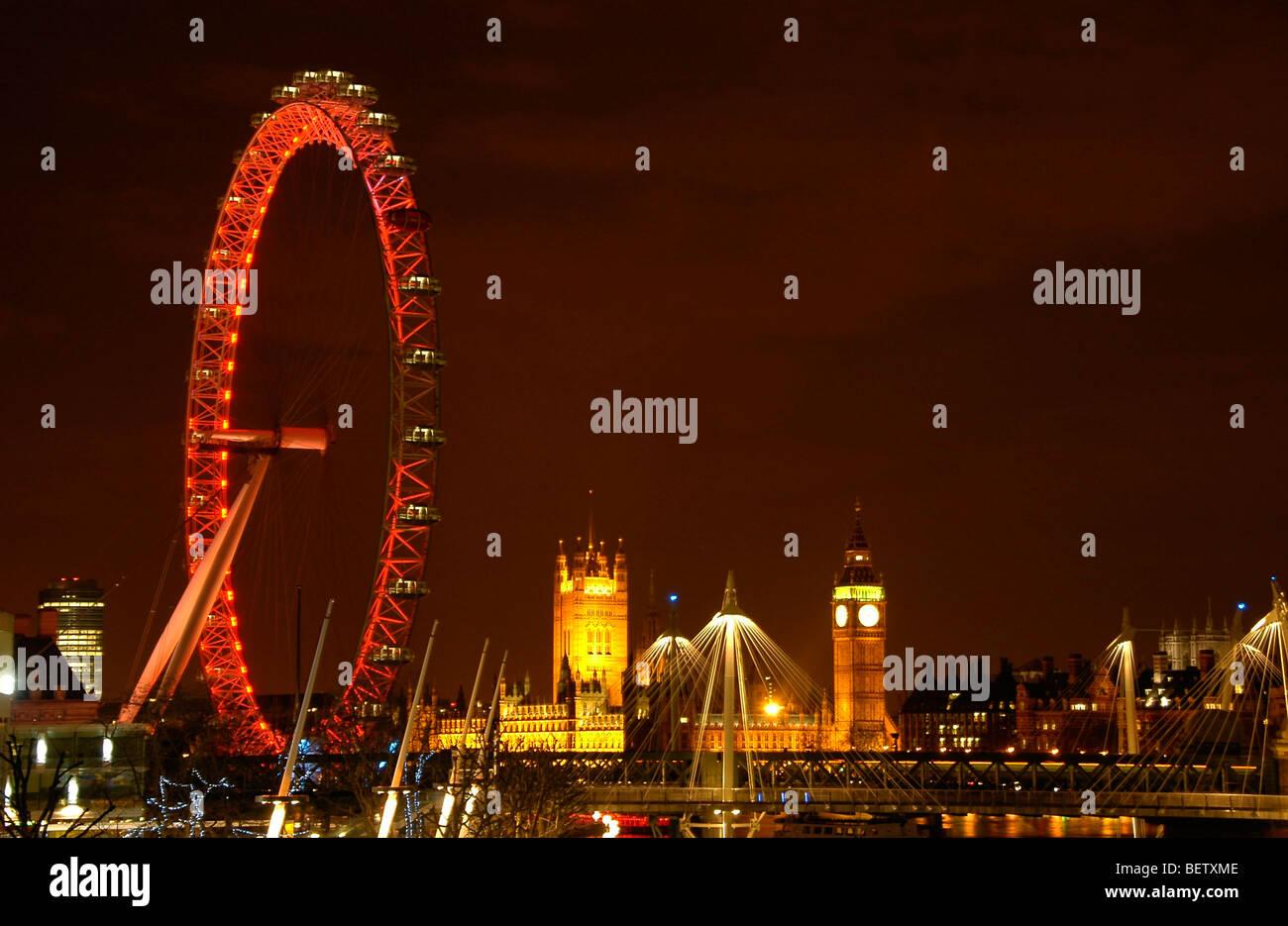 london at night - Stock Image