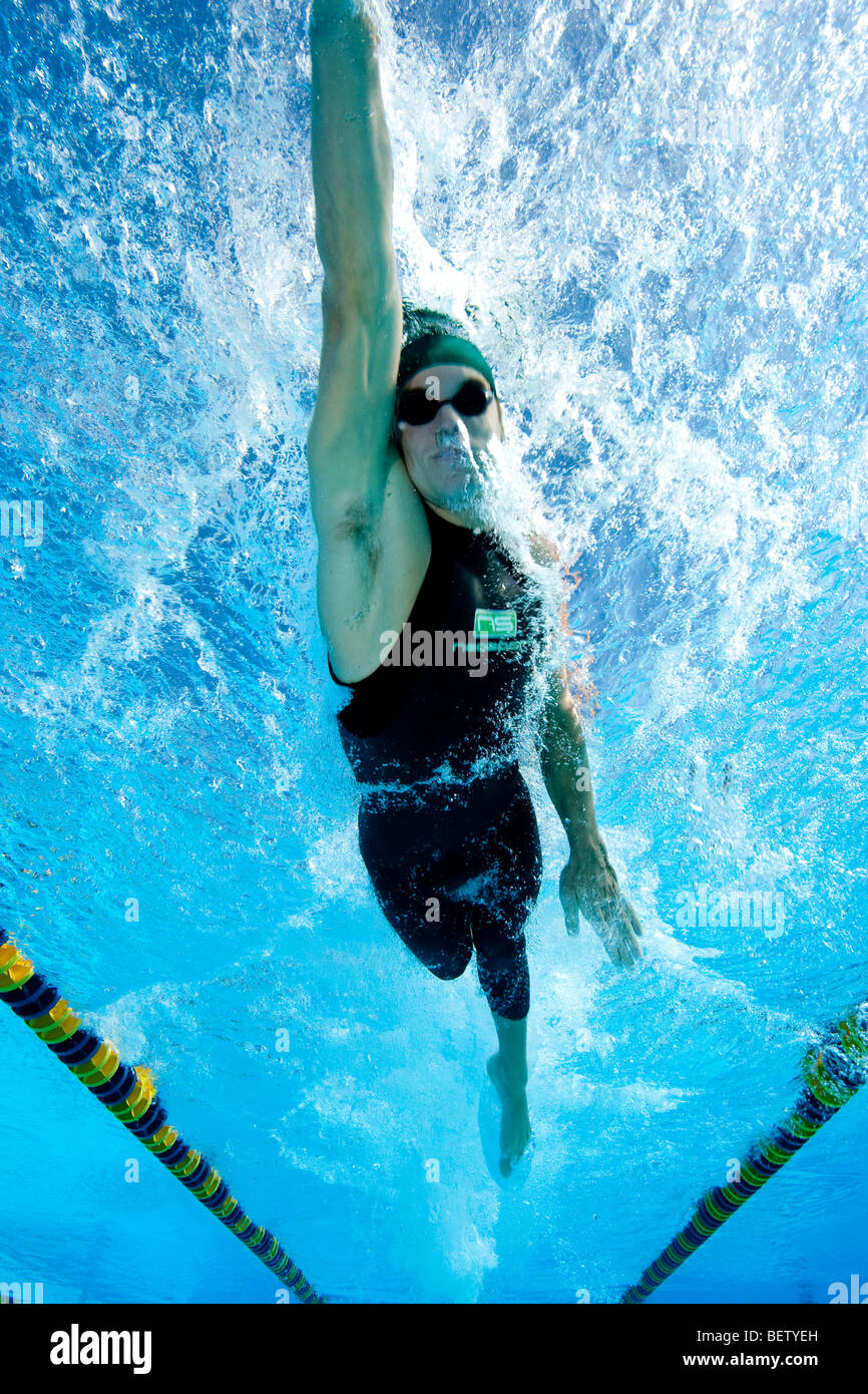 Young man, Swimming - Stock Image