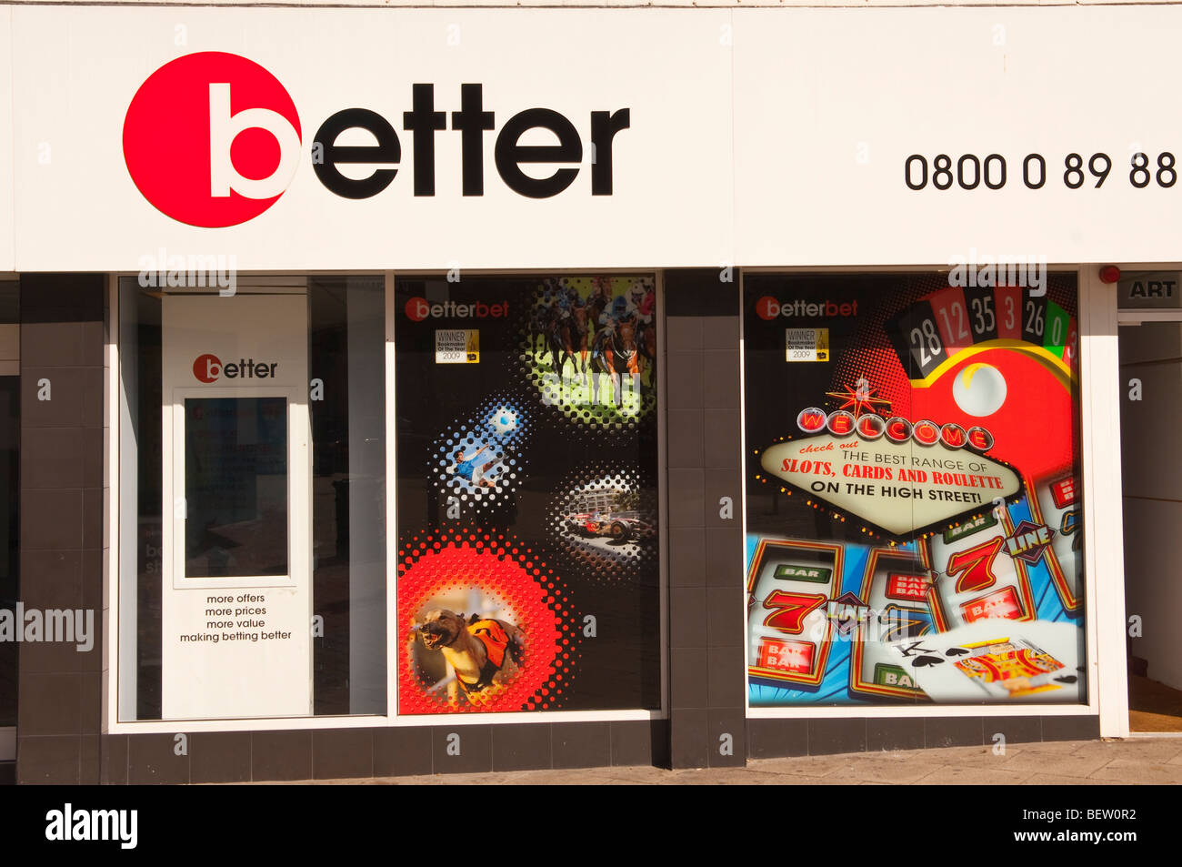Better bookmakers in Norwich,Norfolk,Uk - Stock Image