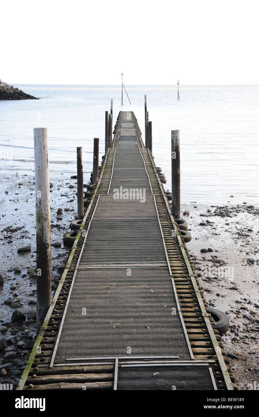 Jetty out to sea - Stock Image