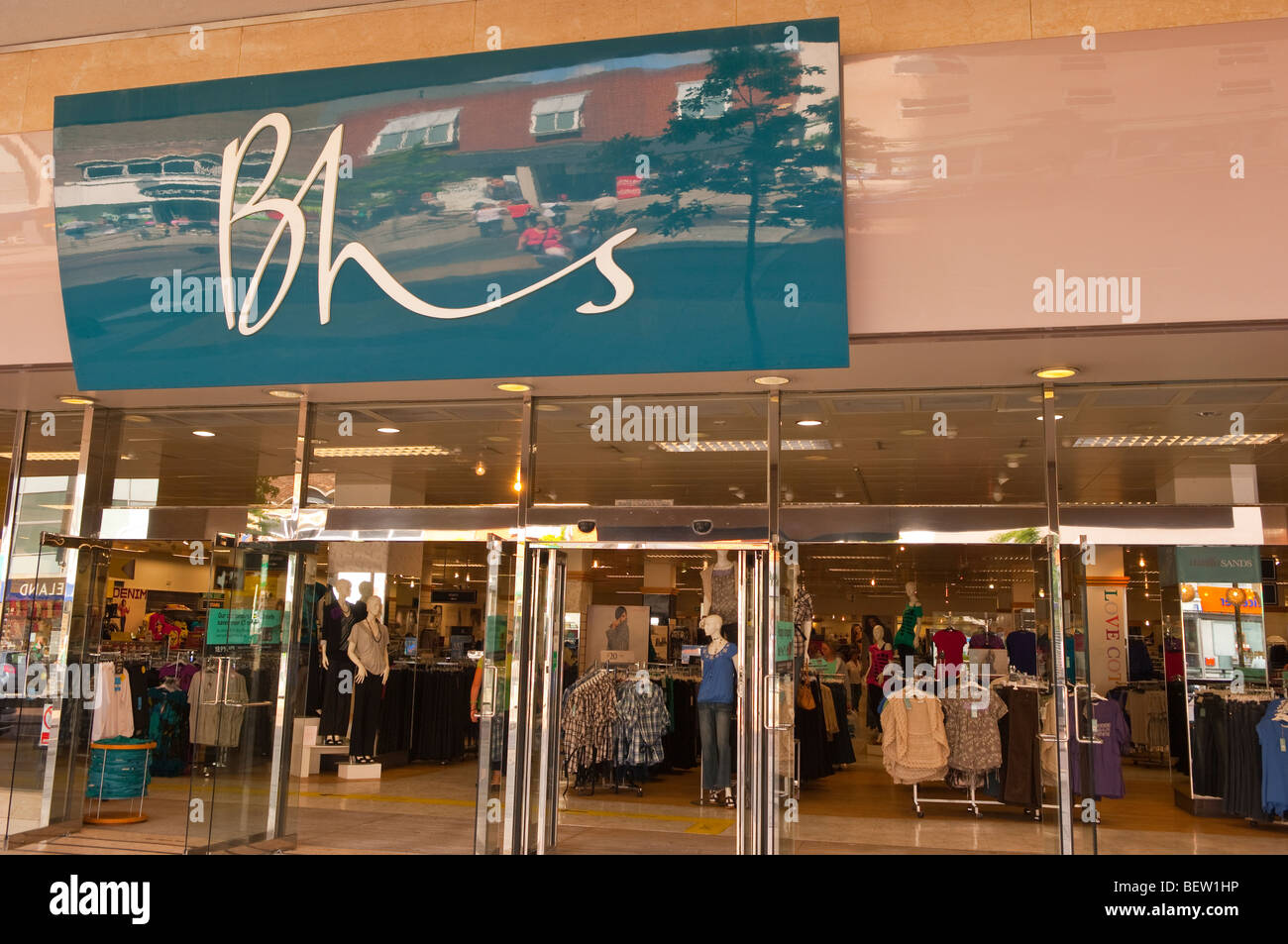 The BHS (British Home Stores) shop store in Norwich,Norfolk,Uk - Stock Image