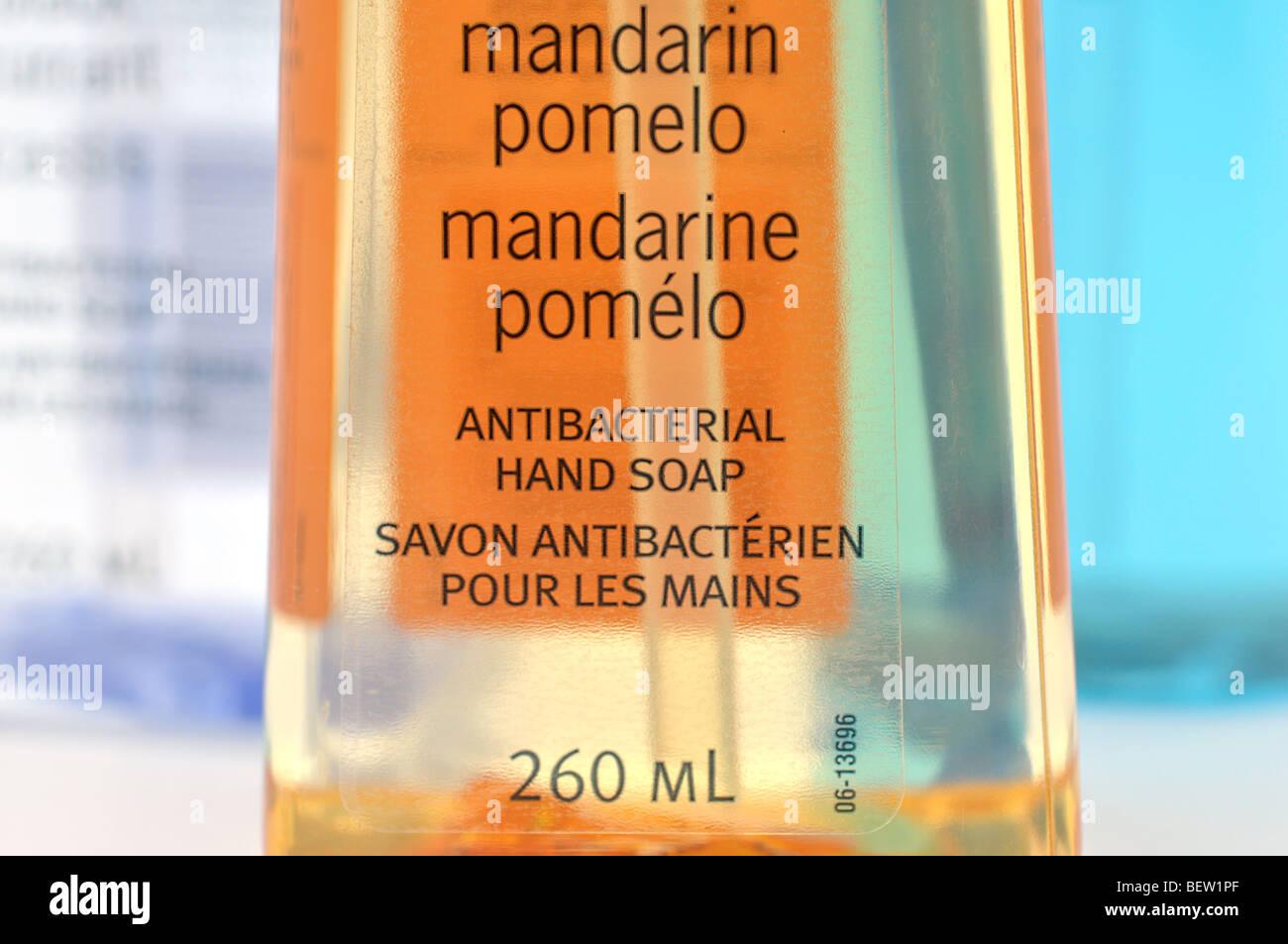 Bottles of Antibacterial Liquid Hand Soap - Stock Image