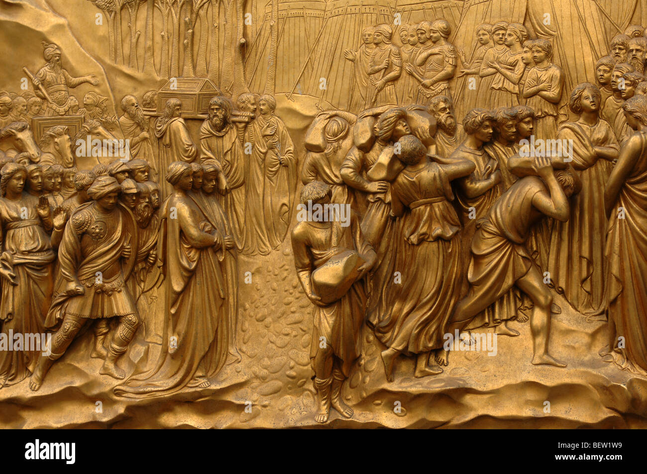 Bronze Doors with Relief Sculptures by Lorenzo Ghiberti Florence Baptistry Piazza del Duomo & Ghiberti Doors Florence Stock Photos u0026 Ghiberti Doors Florence Stock ...
