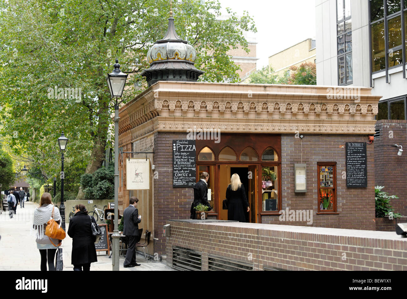 The Bathhouse restaurant and club venue. Built as a Turkish Baths in 1894. Central London. Britain. UK - Stock Image