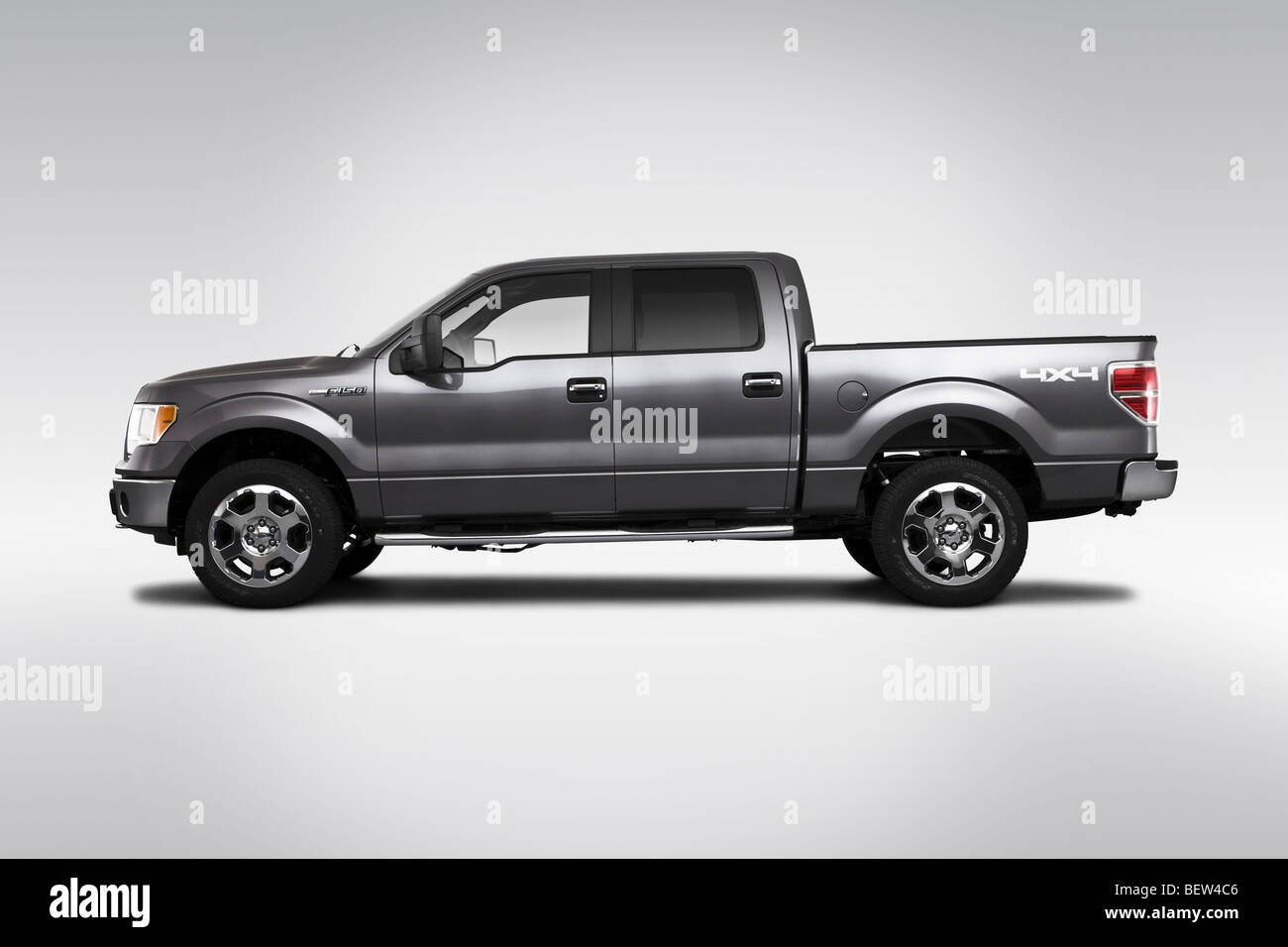 2010 Ford F-150 XLT in Gray - Drivers Side Profile - Stock Image