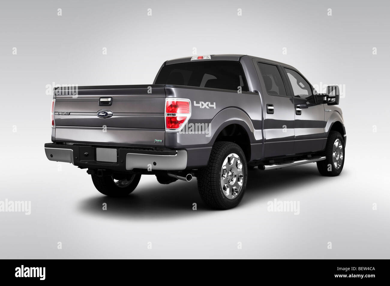 2010 Ford F-150 XLT in Gray - Rear angle view - Stock Image
