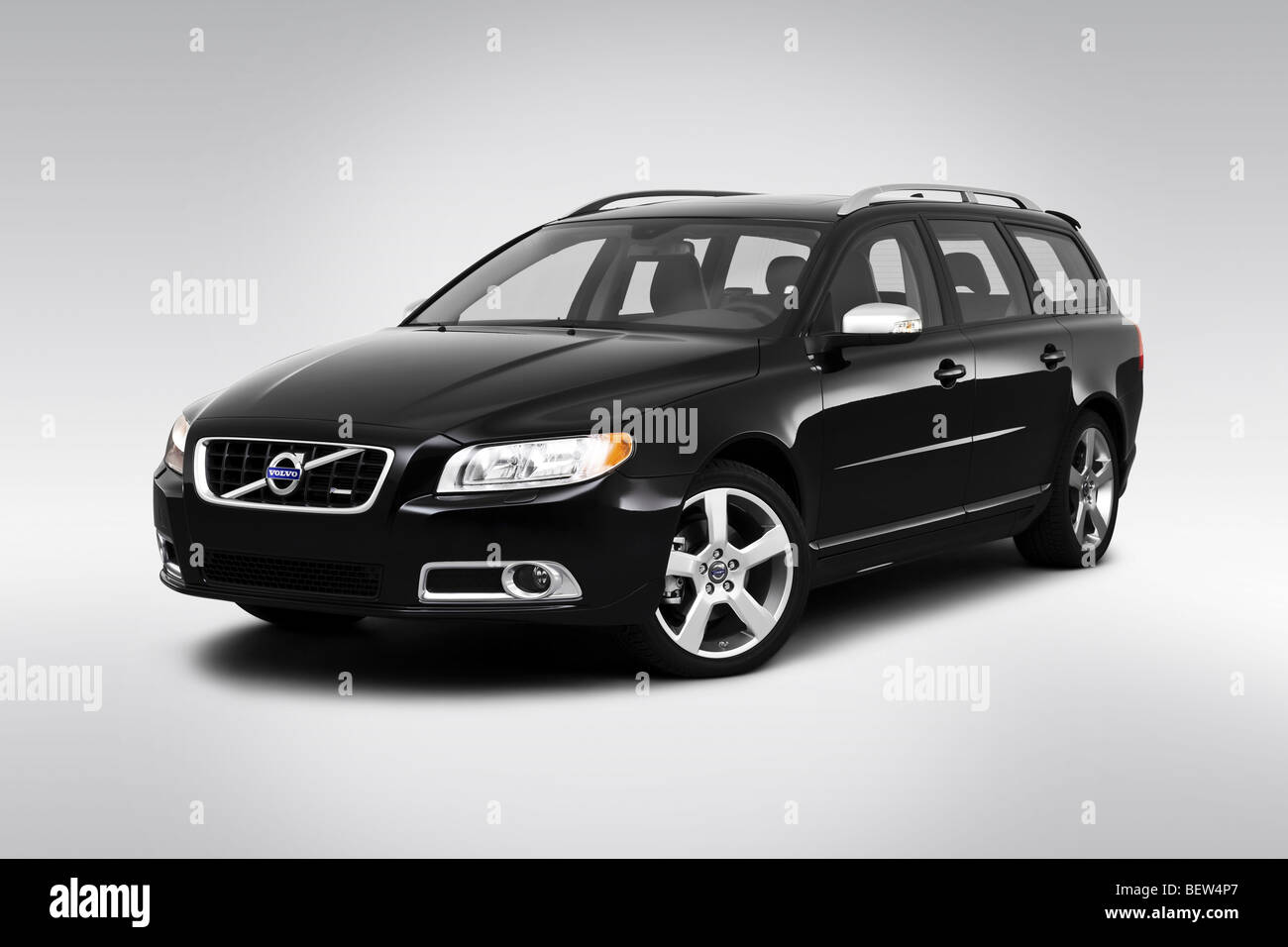 Volvo V A Sr In Black Front Angle View Stock Image