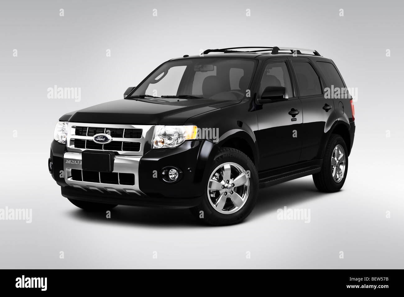 2010 ford escape limited in black front angle view BEW57B - 2010 Ford Escape Limited Ffv