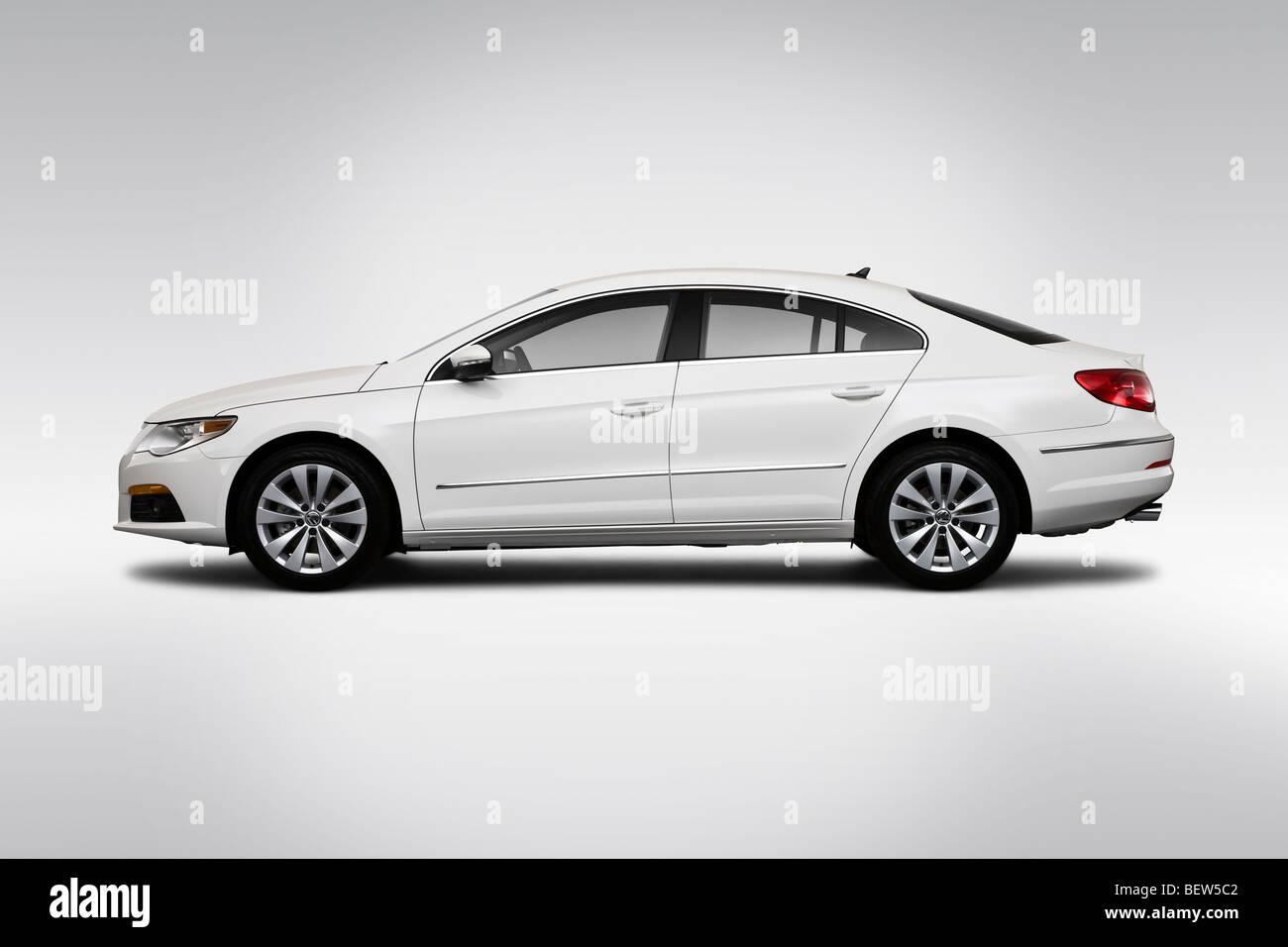 2010 Volkswagen CC Sport in White - Drivers Side Profile Stock Photo