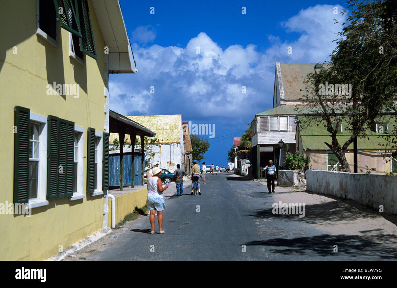 Old Colonial Buildings On Front Street In Cockburn Town Grand Turk