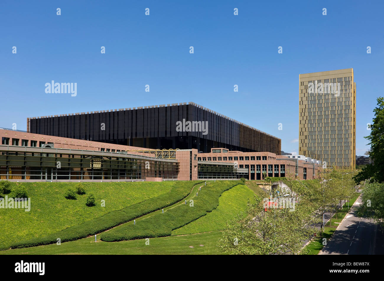 European Court of Justice at the Kirchberg, Luxembourg - Stock Image