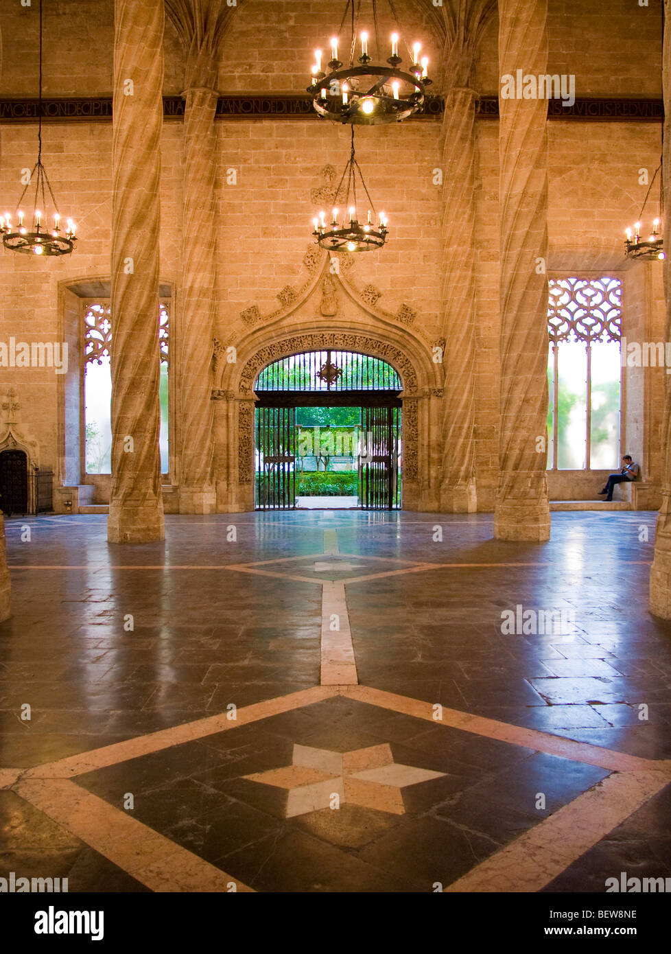 Hall of the Silk Exchange (La Lonja de la Seda) in Valencia, Spain Stock Photo
