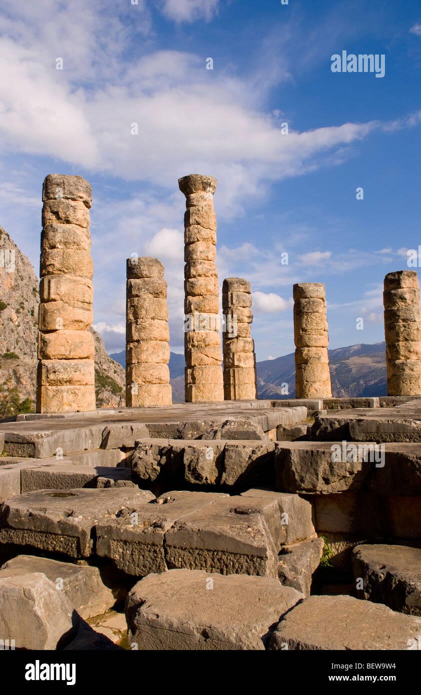 Temple of Apollo, Delphi, Greece Stock Photo