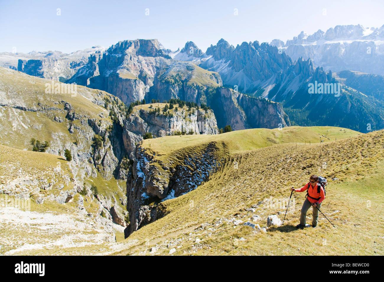 Puez-Geisler, Dolomiti, Italy Stock Photo