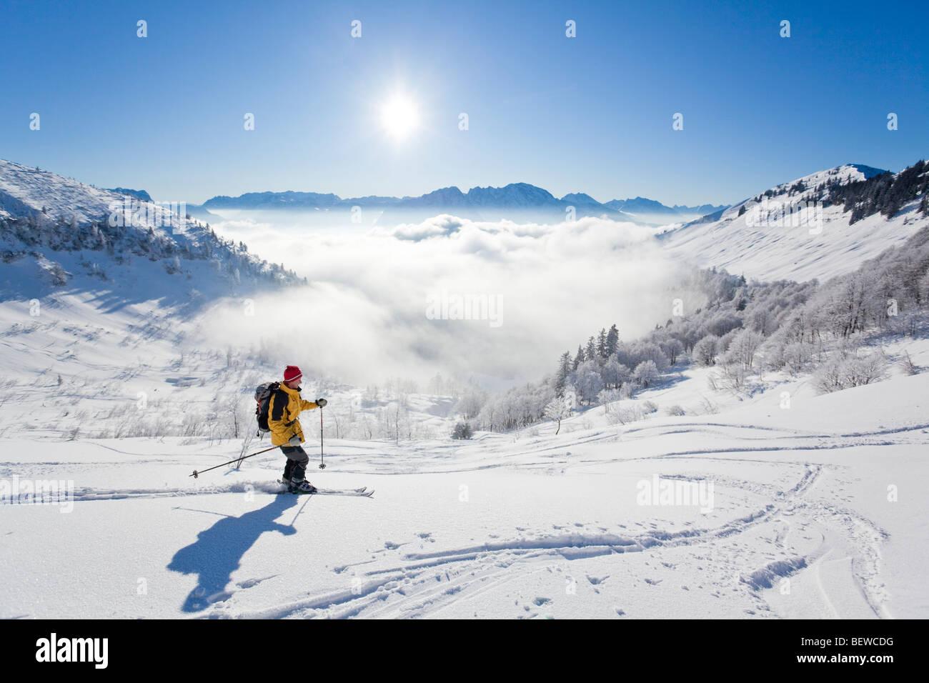 downhill, Schmittenstein, Austria Stock Photo