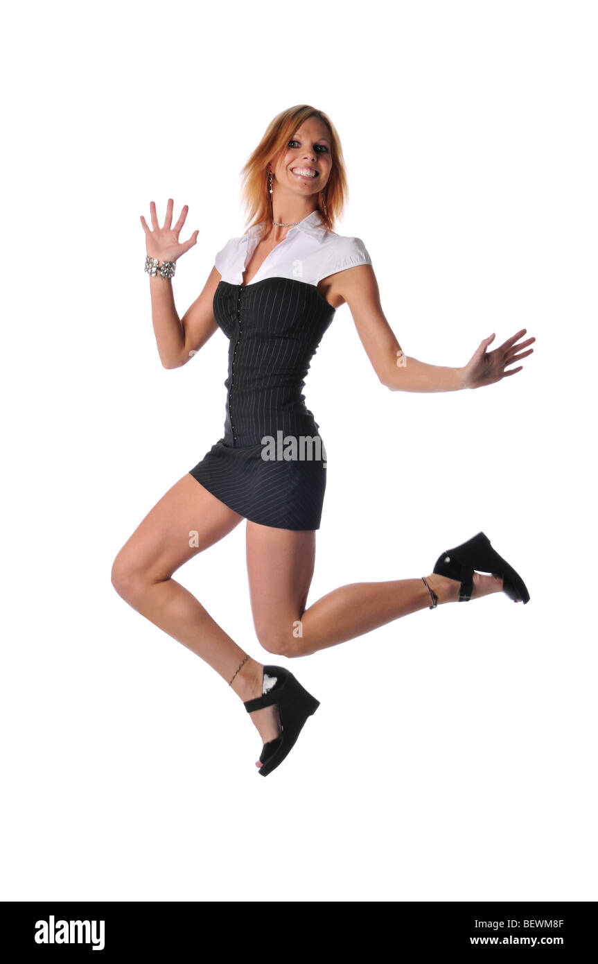Young Woman Wearing Short Skirt Stock Photos & Young Woman ...