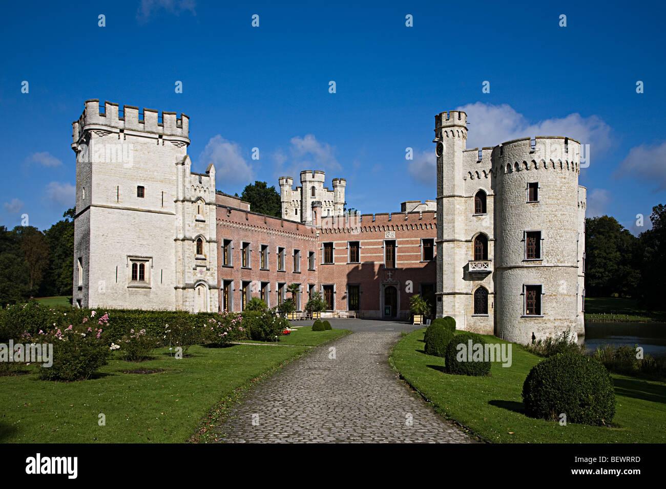 Bouchout Castle National Botanic Gardens Nationale Plantentuin Meise Brussels Belgium - Stock Image