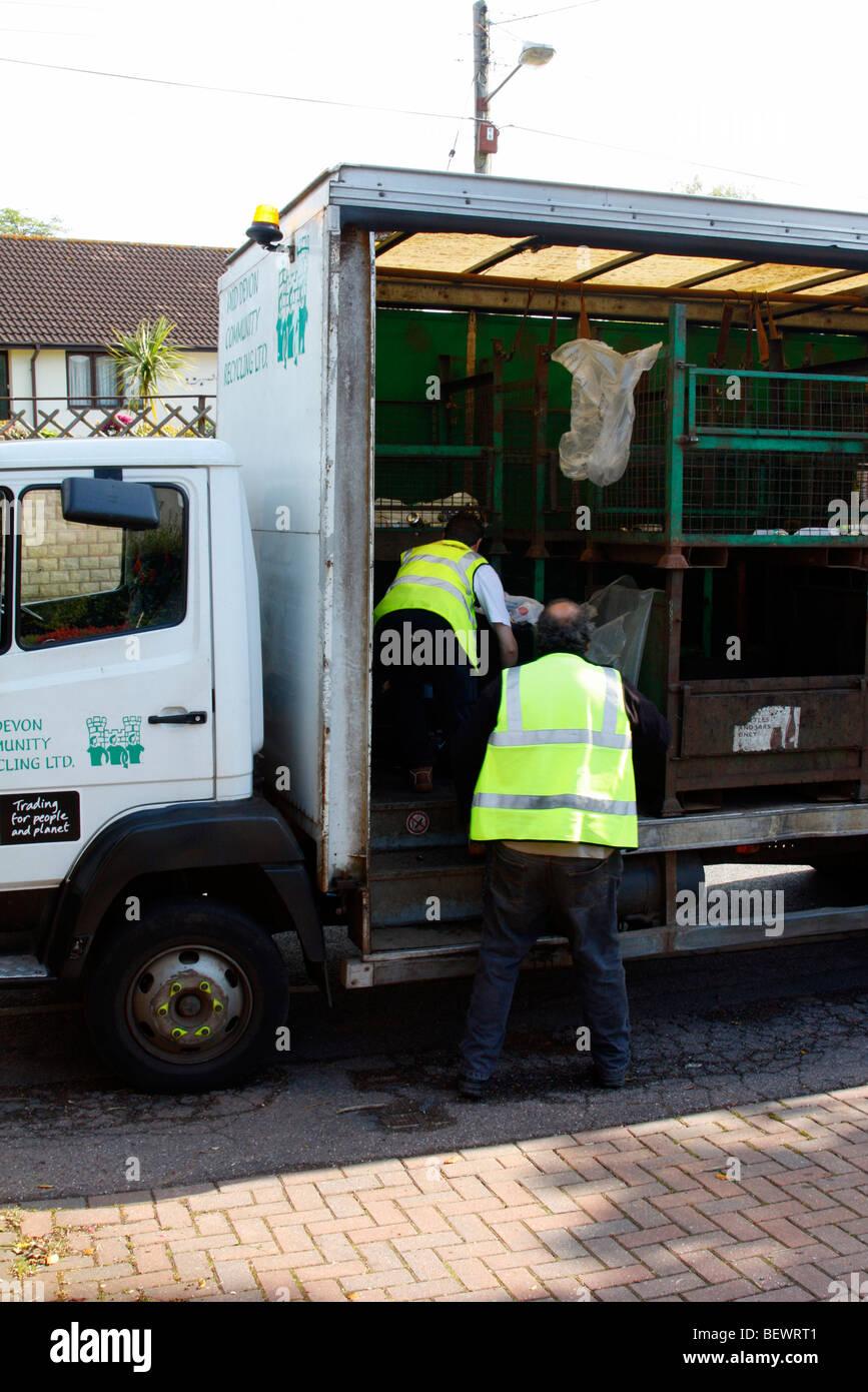 Kerbside recycling in mid Devon Stock Photo