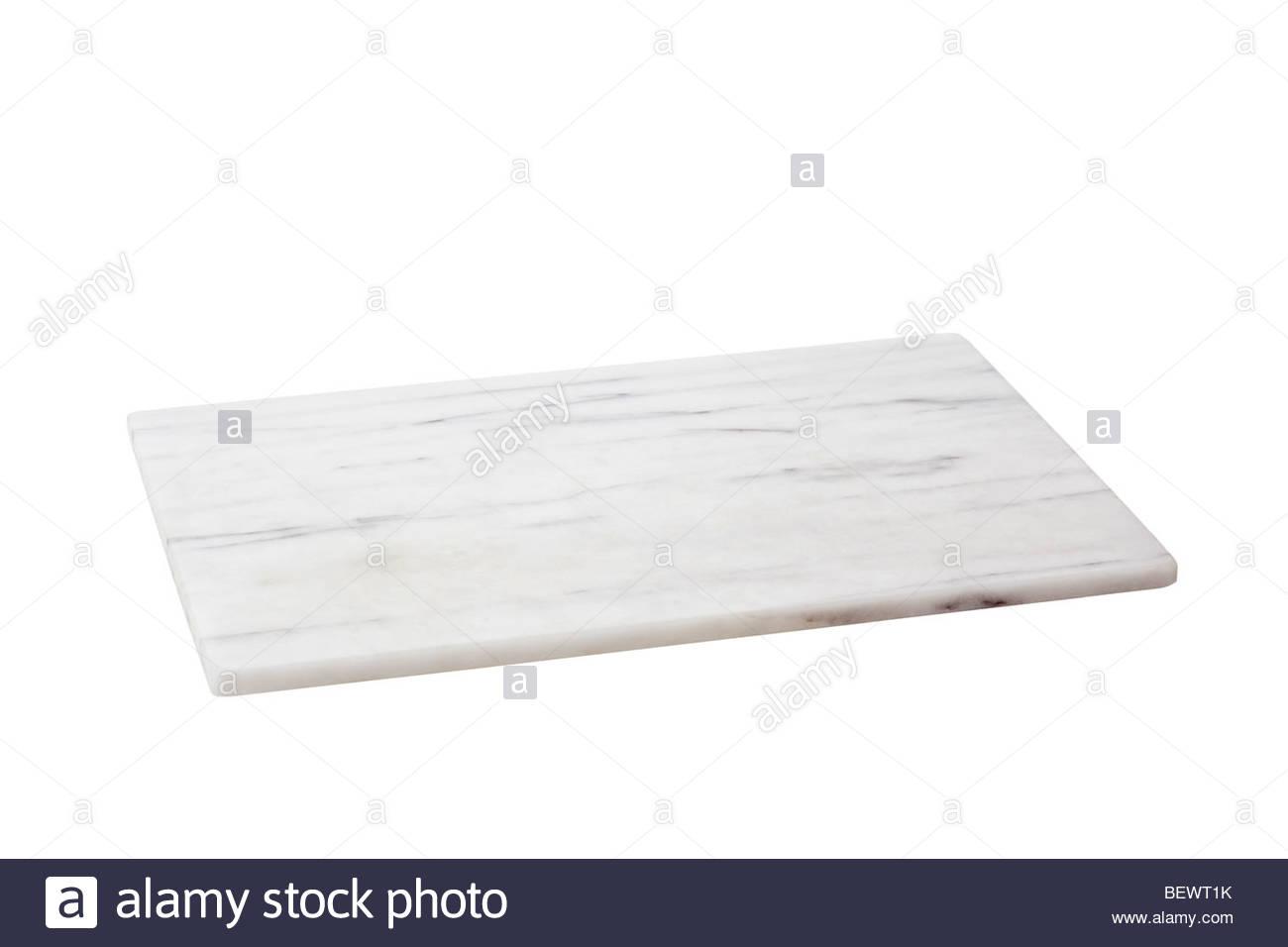Marble cutting board - Stock Image